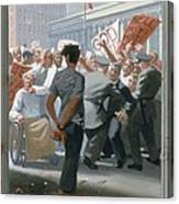 10. Jesus Before The People / From The Passion Of Christ - A Gay Vision Canvas Print