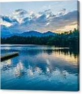 Lake Santeetlah In Great Smoky Mountains North Carolina Canvas Print
