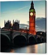 London At Dusk Canvas Print
