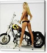 Models And Motorcycles Canvas Print