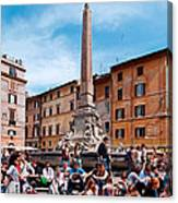 Piazza Della Rotonda In Rome Canvas Print