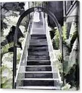 Staircase Leading To A Higher Level In Siloso Hotel In Sentosa Canvas Print