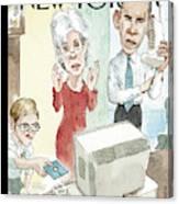 New Yorker November 11th, 2013 Canvas Print