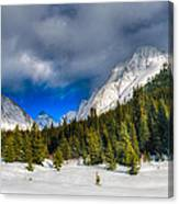 Winter In The Mountains Canvas Print