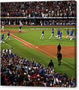 World Series - Chicago Cubs V Cleveland Canvas Print