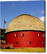 100 Year Old Round Red Barn  Canvas Print