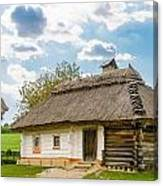 A Typical Ukrainian Antique House Canvas Print