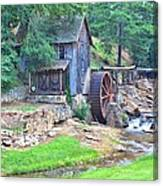 Sixes Mill On Dukes Creek - Square Canvas Print