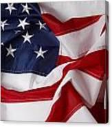 American Flag 34 Canvas Print