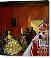 American Staffordshire Terrier Art Canvas Print Canvas Print