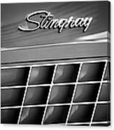 1972 Chevrolet Corvette Stingray Emblem Canvas Print