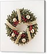 Advent Christmas Wreath  Canvas Print