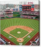 Atlanta Braves V. Washington Nationals Canvas Print