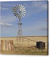 Australia - Windmill In The Wheat Field Canvas Print