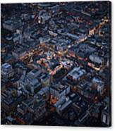 Belfast At Night, Northern Ireland Canvas Print