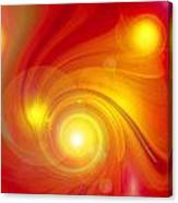 Orange Energy-spiral Canvas Print