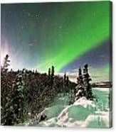 Intense Display Of Northern Lights Aurora Borealis Canvas Print
