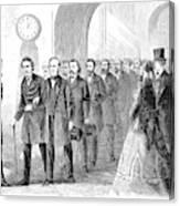 Johnson Impeachment, 1868 Canvas Print