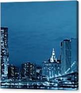 Manhattan Downtown Canvas Print