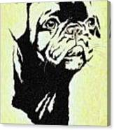 Pug The Dog Canvas Print