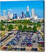 Skyline Of Uptown Charlotte North Carolina Canvas Print