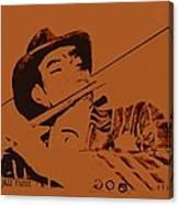 The Jazz Flutist Canvas Print