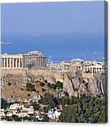 Acropolis Of Athens Canvas Print