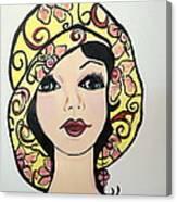 Flapper Girl Claire Canvas Print