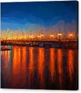 Bridge Of Lions St Augustine Florida Painted Canvas Print