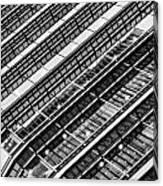Canary Wharf London Abstract Canvas Print