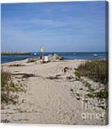 Fishing At Sebastian Inlet In Florida Canvas Print