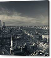 High Angle View Of A City Canvas Print