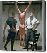 12. Jesus Is Beaten / From The Passion Of Christ - A Gay Vision Canvas Print