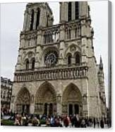 Notre Dame In Paris France Canvas Print