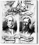 Presidential Campaign, 1872 Canvas Print