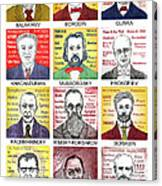 12 Russian Composers Canvas Print