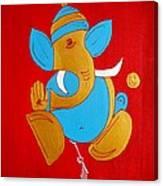 12 Shubham - Auspicious Ganesha Canvas Print