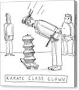 Karate Class Clown Canvas Print