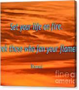 120- Rumi Canvas Print