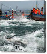 Almadraba Tuna Fishing Canvas Print