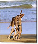 Beach People Canvas Print