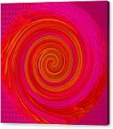 Red Energy-spiral Canvas Print
