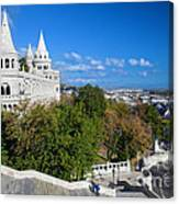 Fisherman's Bastion In Budapest Canvas Print