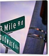 13 Mile Road And Woodward Avenue Canvas Print