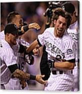 New York Mets V Colorado Rockies Canvas Print