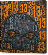 13 Skull Canvas Print