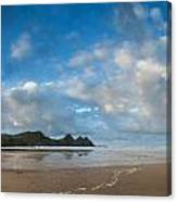 Stunning Sunrise Landscape Over Three Cliffs Bay In Wales Canvas Print