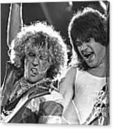 Van Halen - Sammy Hagar With Eddie Van Halen Canvas Print