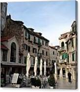 Views Of Split Croatia Canvas Print