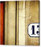 13 With Wooden Door Canvas Print